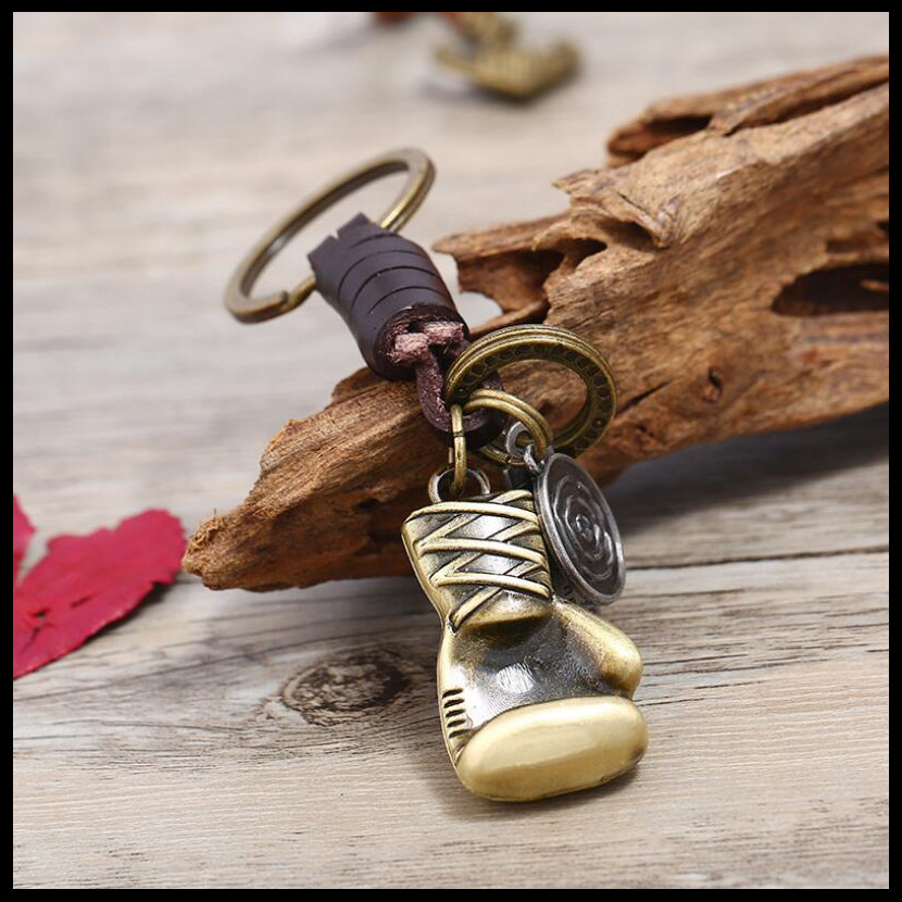 2019 NEW Fashion Creative Punk Boxing KeyChain Charms Bag Ornaments Car Key Chain Exquisite Gift Keyring Wholesale