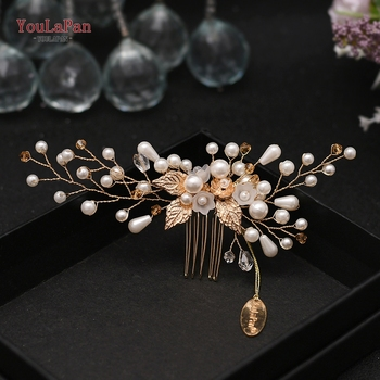 YouLaPan HP138 Bridal Hair Comb Jewelry Wedding Clip Headdress for Bride Handmade Pearl Crystal Hairpins