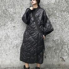 LANMREM 2020 חדש סתיו וחורף יפן סגנונות עטלף שרוולים רופף גודל גדול כותנה מרופדת מעיל נשים מעיל רוח JD18601