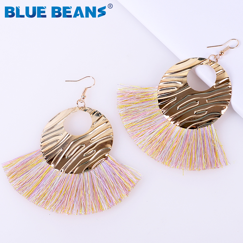 Hcc7baa6b23004dd4b46fb1cc75879518Z - Tassel Earrings Women Punk Earings Fashion Jewelry Hanging Crystal Star Girls Earring Drop Dangle Long Boho Set  Luxury Handmade