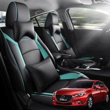 Housse de siège de voiture de luxe en cuir, pour Mazda 3 Axela 2014 2015 2016 2017 2018 2019, accessoires de style automobile quatre saisons