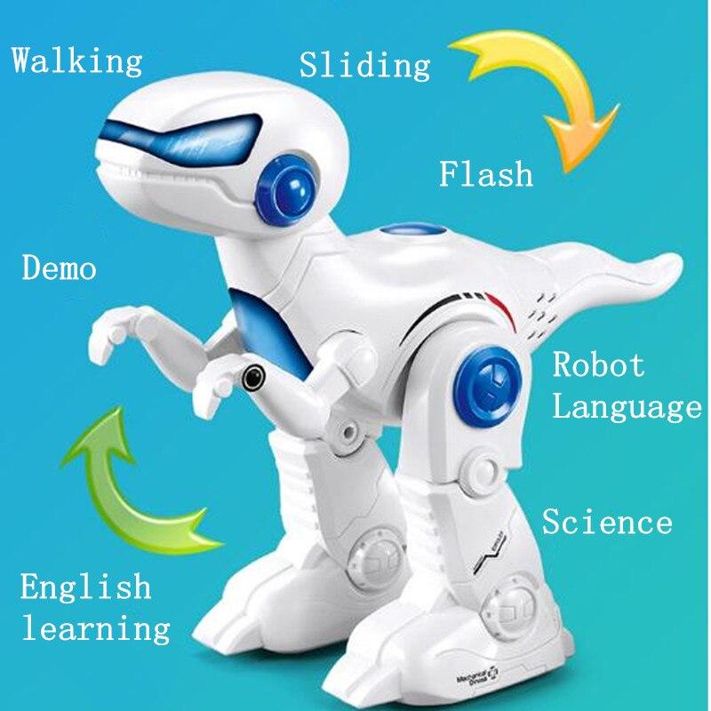 Controle remoto inteligente dinossauro robô brinquedo rc