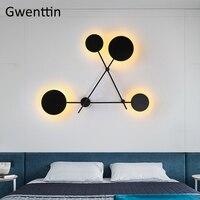 현대 노르딕 문 벽 램프 침실 벽 램프에 대 한 Led 벽 Sconce 전등 철 Luminaire 로프트 산업 홈 장식