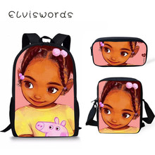 Afro Girl Backpacks Cute For Teenager Girls Lady School Bag Students Notebook  Scool Fashion ранец первоклассника