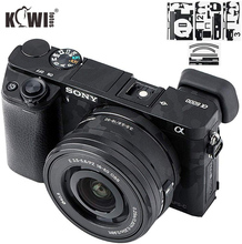 Autocollant de corps dappareil photo anti rayures couverture protecteur Film Kit pour Sony Alpha A6000 + SELP1650 16 50mm objectif 3M autocollant ombre noir