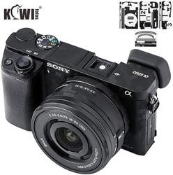 Kiwi Anti-Scratch Camera Body Skin Cover Protector Film for Sony Alpha A6000 + SELP1650 16-50mm Lens - 3M Sticker Shadow Black