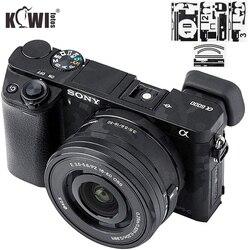 Kiwifotos Anti-arañazos cuerpo de cámara cubierta de la piel de la película del Protector para Sony Alpha A6100 A6300 A6400 + SELP1650 16-50mm lente 3M etiqueta