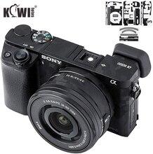 Naklejka na korpus aparatu naklejka przeciw porysowaniu Protector Film Kit dla Sony Alpha A6000 + SELP1650 16 50mm obiektyw 3M naklejka cień czarny