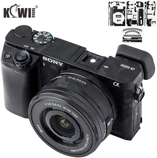 מצלמה גוף מדבקת נגד שריטות כיסוי מגן סרט ערכת עבור Sony Alpha A6000 + SELP1650 16 50mm עדשה 3M מדבקת צל שחור