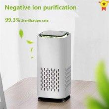 Mais novo purificador de ar purificador de ar para casa xiomi hepa filtros 5v cabo usb purificador de ar de baixo nível de ruído com luz noturna desktop para carro