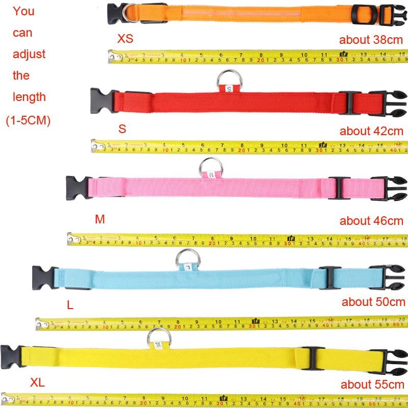 LED Safety Dog Collar size