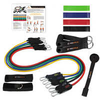 Procircle Resistance Bands set - 16 Pcs Expander Tubes Rubber Band For Resistance Training, Physical Therapy, Home Gyms Workout