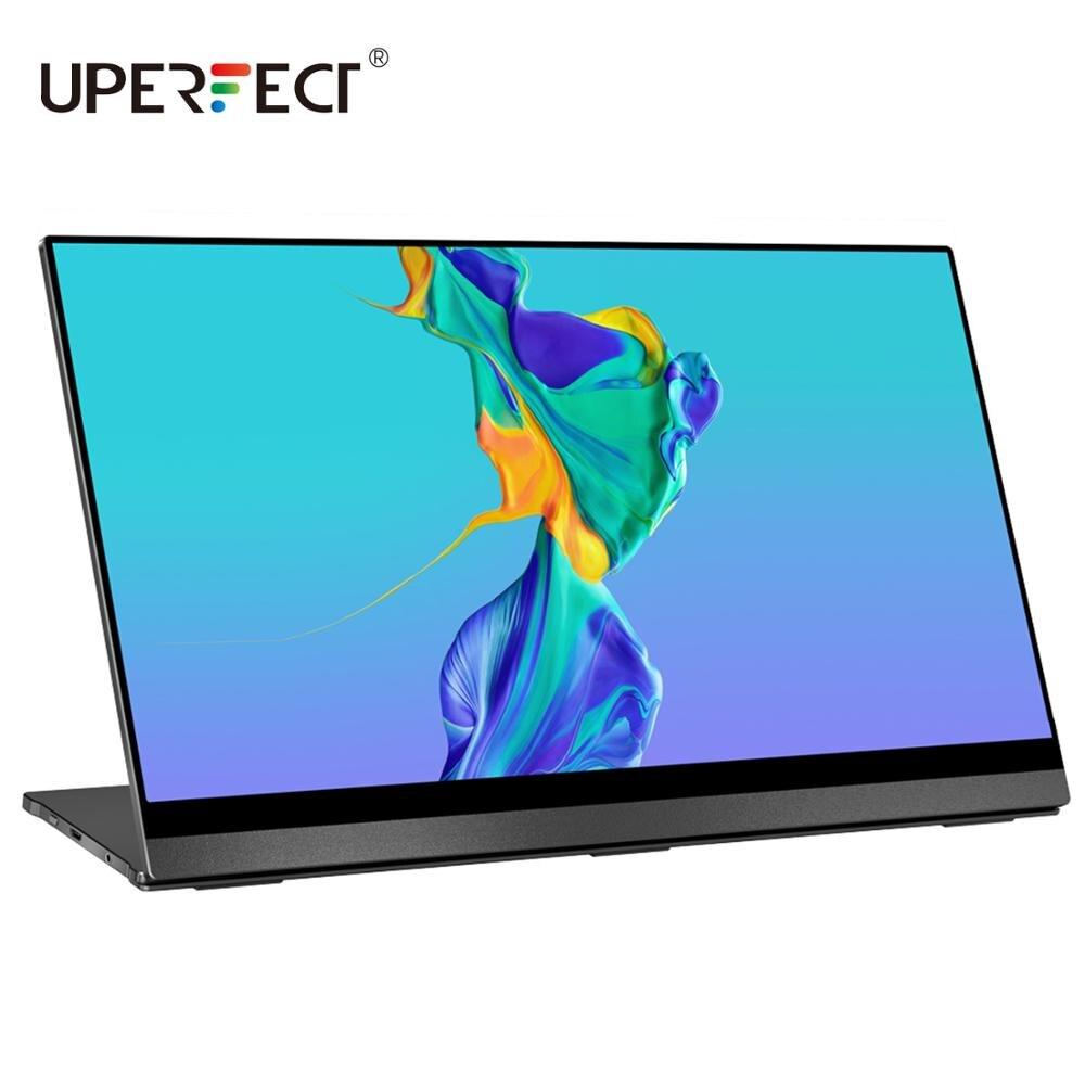 UPERFECT 4K przenośny Monitor z ekranem dotykowym czujnik grawitacji automatyczne obracanie 15.6 najcieńszy 10-punkt dotykowy UHD 3840x2160 wyświetlacz