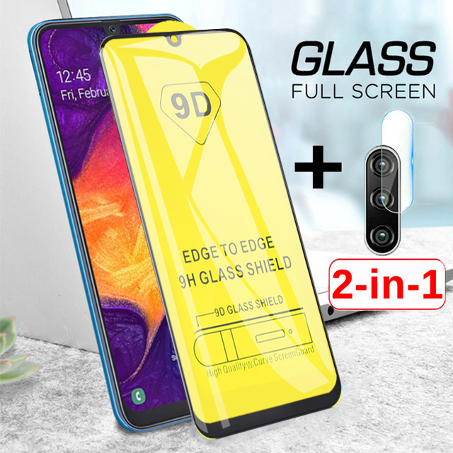 2 in 1 a50 camera <font><b>glass</b></font> on the for <font><b>Samsung</b></font> galaxy <font><b>a</b></font> <font><b>50</b></font> screen protector 50a tempered glas protective lens tremp sheet armor film image