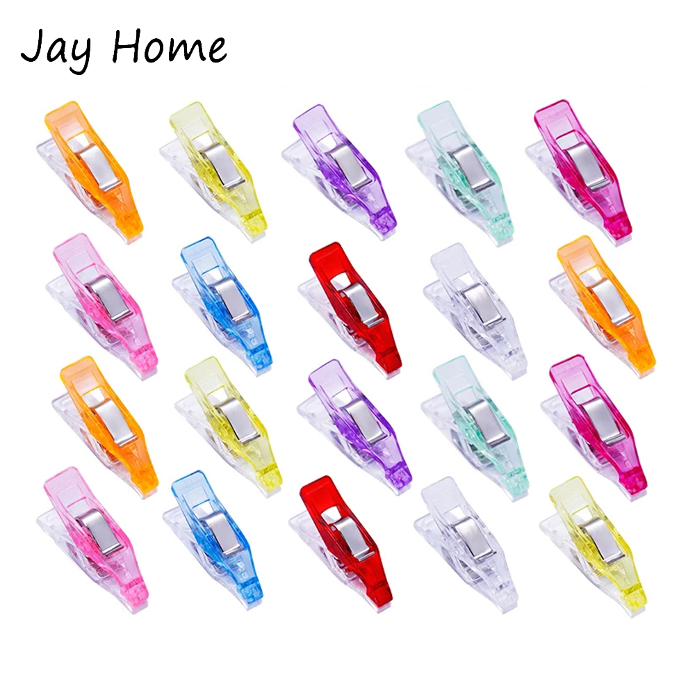30/10Pcs Sewing Clips Multi-purpose Quilting Clips Plastic Clips Clamps for Fabric Patchwork Quilting Sewing Crafts 27 x 7mm