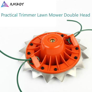 AMKOY Double Head Grass Cutter Weeding Carbide Brushcutter Electric Garden Trimmer Head Strimmer Mower Blade For Lawn Mower double padded strimmer brushcutter harness quick release shoulder straps suits