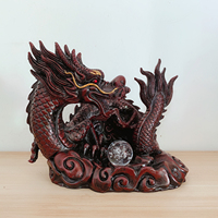 Indoor Desktop Ornament Resin Chinese Dragon Statue Feng Shui Crafts Home Decoration Gift