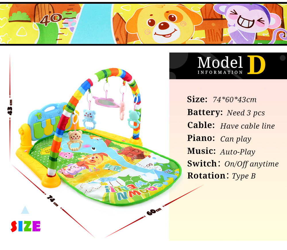 Hcc7ce80236794f4d95a7d05745a8f71et 16 Styles Baby Music Rack Play Mat Kid Rug Puzzle Carpet Piano Keyboard Infant Playmat Early Education Gym Crawling Game Pad Toy