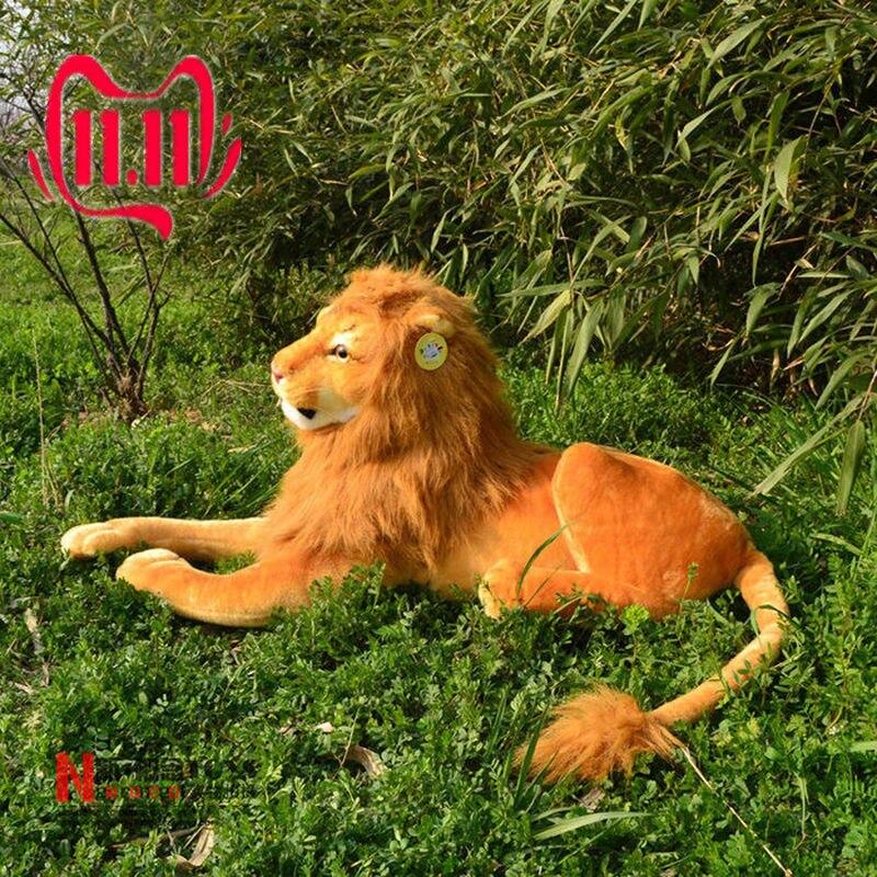 2019 géant grande peluche Simulation Lion en peluche peluches couché Lion poupée cadeau 90cm licorne en peluche jouets en peluche animaux en peluche