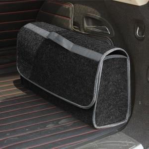 Image 5 - Auto Lagerung Tragbare Faltbare Mehrzweck Fühlte Tuch Falten Lagerung Box Organizer Fall Tools Auto organizer box für Auto Lkw