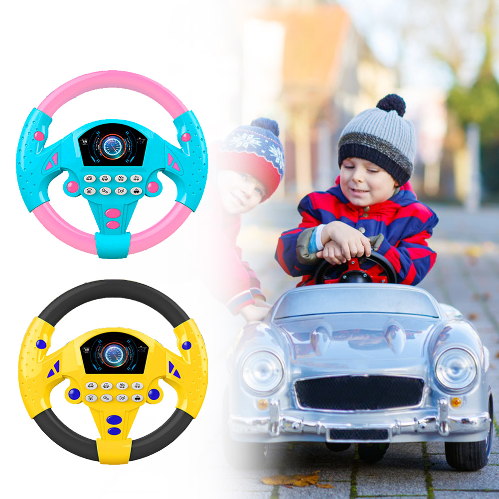 Children Music Toy Kids Simulated Small Steering Wheel Copilots Baby Puzzle Early Education Music Simulation Toys Gift For Kids