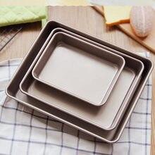 Plateau de cuisson rectangulaire en métal antiadhésif, plaque de cuisson pour gâteau, pain, Baguette, moule pour four, ustensiles de cuisson