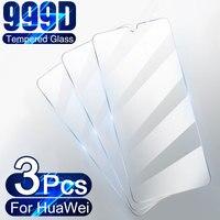 3 piezas de vidrio templado para Huawei P30 P40 Lite P20 Pro P10 P Smart 2019 pantalla cristal Protector para Huawei Mate 30 20 Lite P30 película