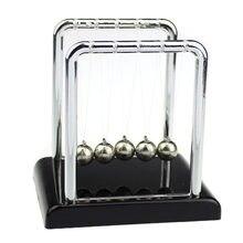 Física ciência acessório de mesa brinquedo educacional newton & #34s berço aço bola equilíbrio física ciência pêndulo aço equilíbrio bola