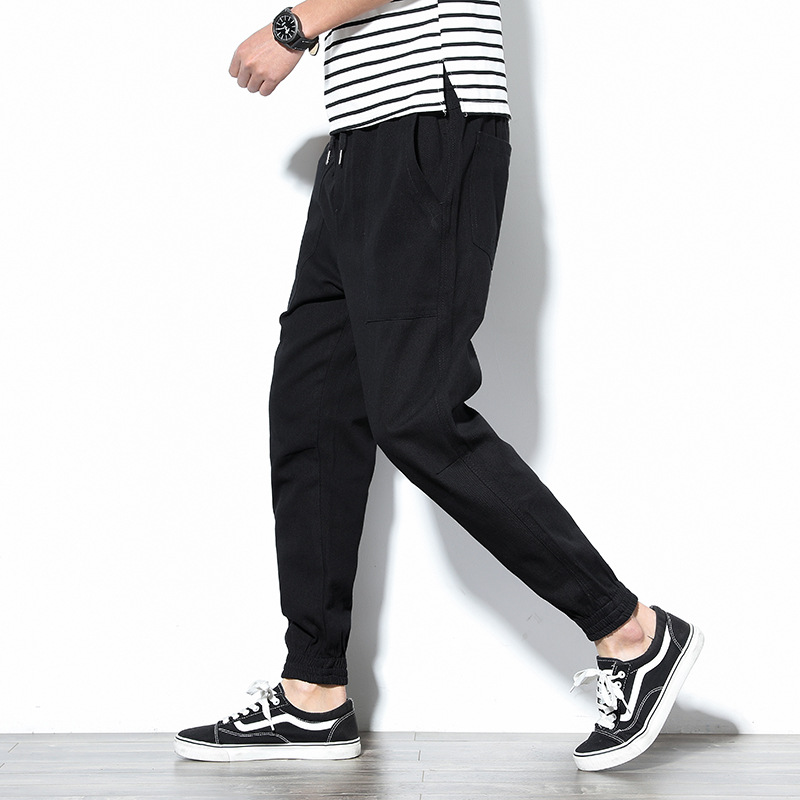 Special Offer 2019 Spring New Style Men Loose-Fit Skinny Casual Pants Korean-style Trend Simple Beam Leg Harem Pants