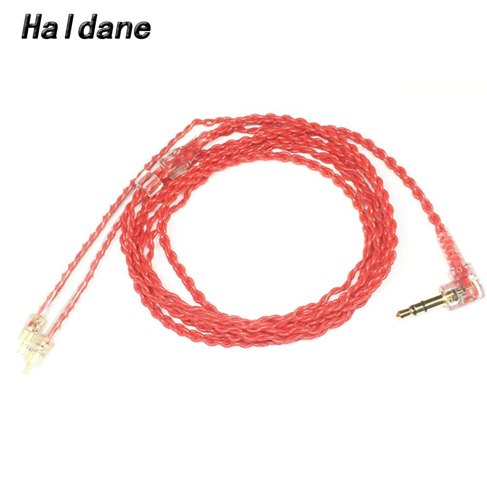 Haldane DIY <font><b>Headphone</b></font> Upgrade <font><b>Cables</b></font> 0.78mm <font><b>2</b></font> <font><b>Pin</b></font> <font><b>Cable</b></font> for 1964 w4r um3x es3 es5 Earphone <font><b>Headphone</b></font>(Red image