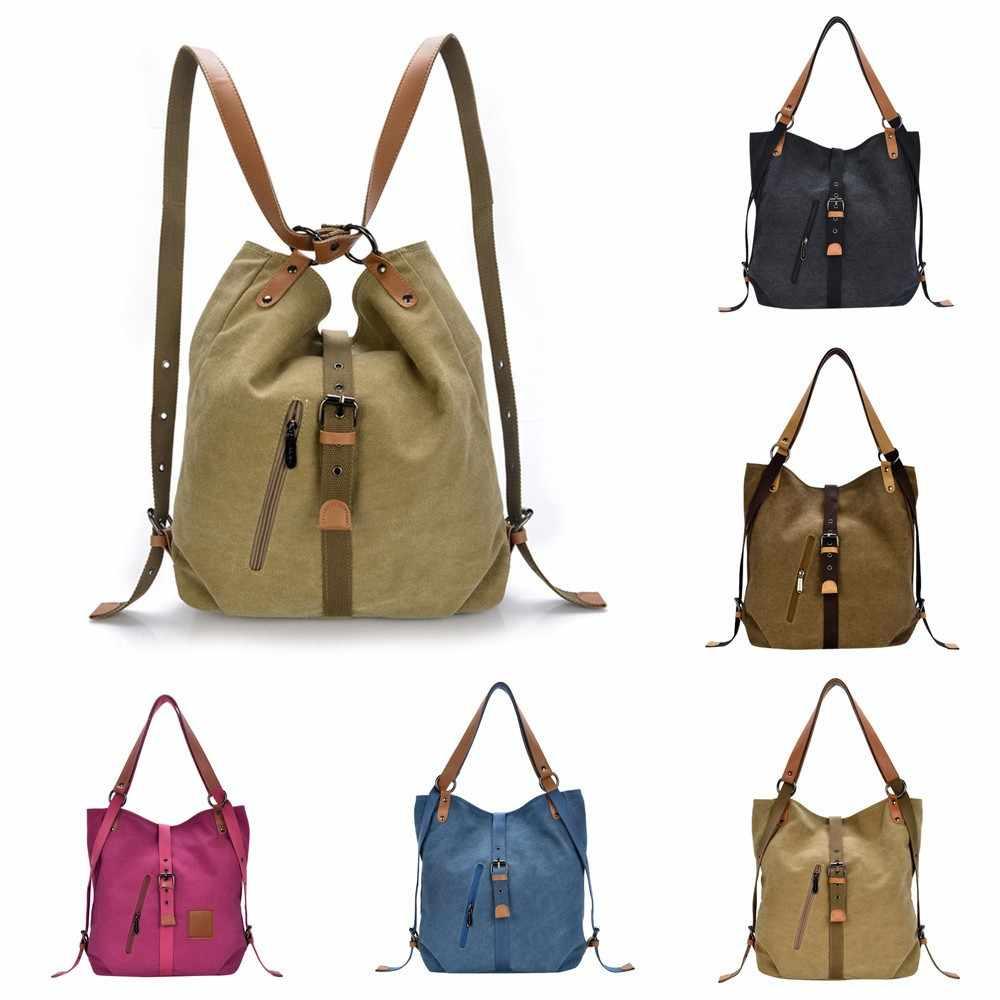 Kadın kanvas çanta yüksek kaliteli kadın Hobos tek omuz çantaları Vintage katı çok cep bayanlar tote Bolsas siyah mavi