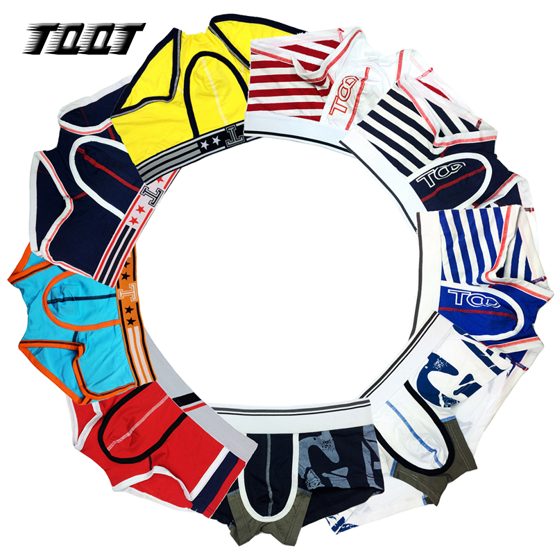 TQQT 6 Pieces/Lot Men Underwear Print Wide Belt Man Boxers Striped Boxer Sexy Underwear Patchwork Men Male Panties Solid 8U0000