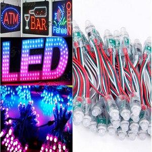 50 шт./100/400/1000 шт. DC 5 в 12 мм WS2811 RGB светодиодный модуль пикселя IP68 водонепроницаемое светодиодное освещение полноцветное рождественское освещ...
