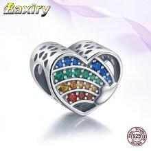 Бусины из стерлингового серебра 925 пробы в форме сердца аксессуары