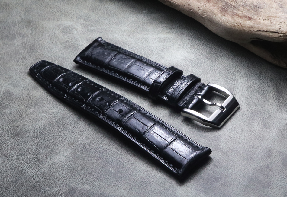 20mm 21mm 22mm High quality Crocodile Grain Genuine Leather Upscale luxury Watchband Replace Strap For IWC Bracelets Accessories