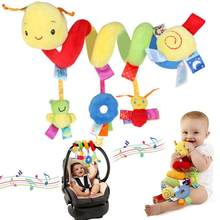 1 PC Funny Kid Baby Bell Toy Crib Cot Pram Hanging Rattles Spiral Stroller&Car Seat Toy With Ringing Bell Birthday Gift(China)