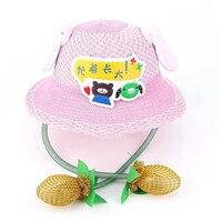 חמוד באני פישר כובע מצחיק Playtoy אוזן עד למטה ארנב מתנה שמש כובע לילדים בנות שמש כובע אוזני מהלך ילדים קש כובע J71