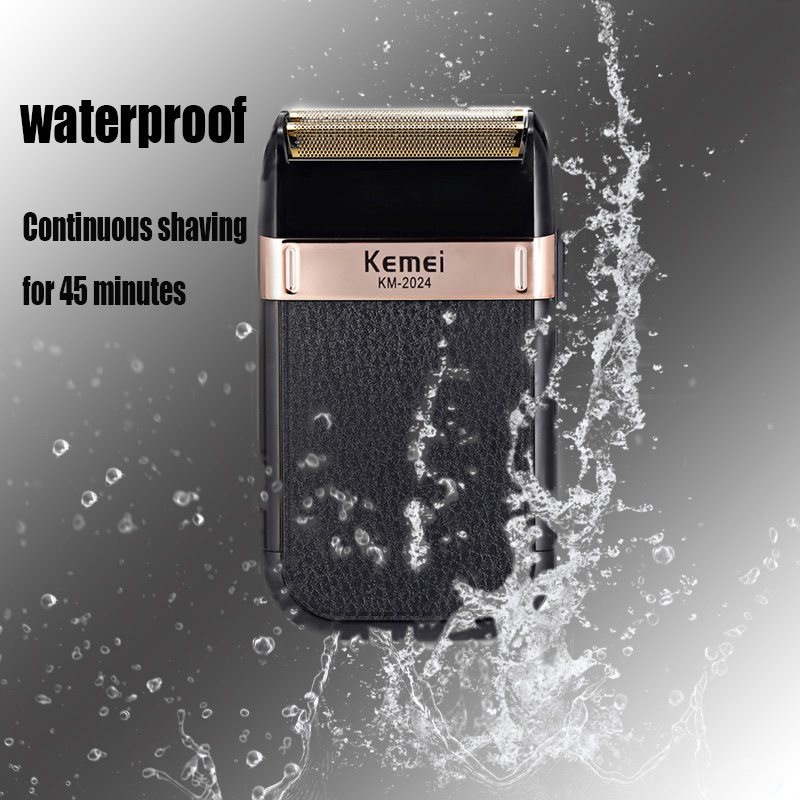 Kemei Razor Electric Shaver Men's Hair Clipper USB Rechargeable Razor Hair Cleaning Tool Double-edged Waterproof Reciprocating 4