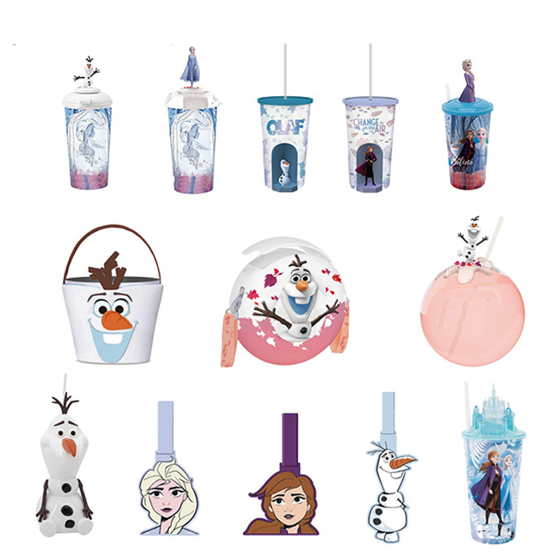 2019 Princess Elsa Anna Olaf Water Cups Popcorn Barrel Anime Movie Children Girls Toys Birthday Christmas Gifts For Kids