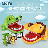 Bite Finger Toy Large Crocodile Pulling Teeth Bar Games Toys Sound and light lion Children's interactive toys