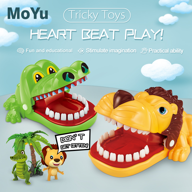Medium Bite Finger Toy Animal Series Pulling Teeth Bar Games Toys Kids Funny Toy Cultivate Practical Ability  For Children Gifts