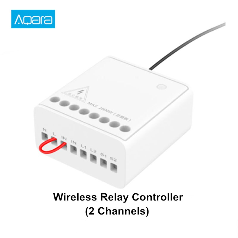 Aqara Two-way Control Module Wireless Relay Switch Controller Smart Setting Timer 2 Channels For Mi Home APP &Homekit