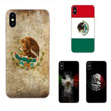 Mexican National Flag Emblem Custom Pattern Transparent Soft Shell For Apple iPhone 4 4S 5 5C 5S SE 6 6S 7 8 Plus X XS Max XR(China)