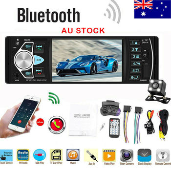 4.1'' Single 1DIN Car Stereo MP5 MP3 Player Bluetooth FM Radio USB AUX + Camera image