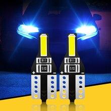 2 uds T10 W5W bombillas LED Auto lámpara de señal luces interiores para Audi Q2 Q3 Q5 Q7 BMW X1 X3 X5 X7 Mercedes-Benz GLA GLC GLK sobre las GLS
