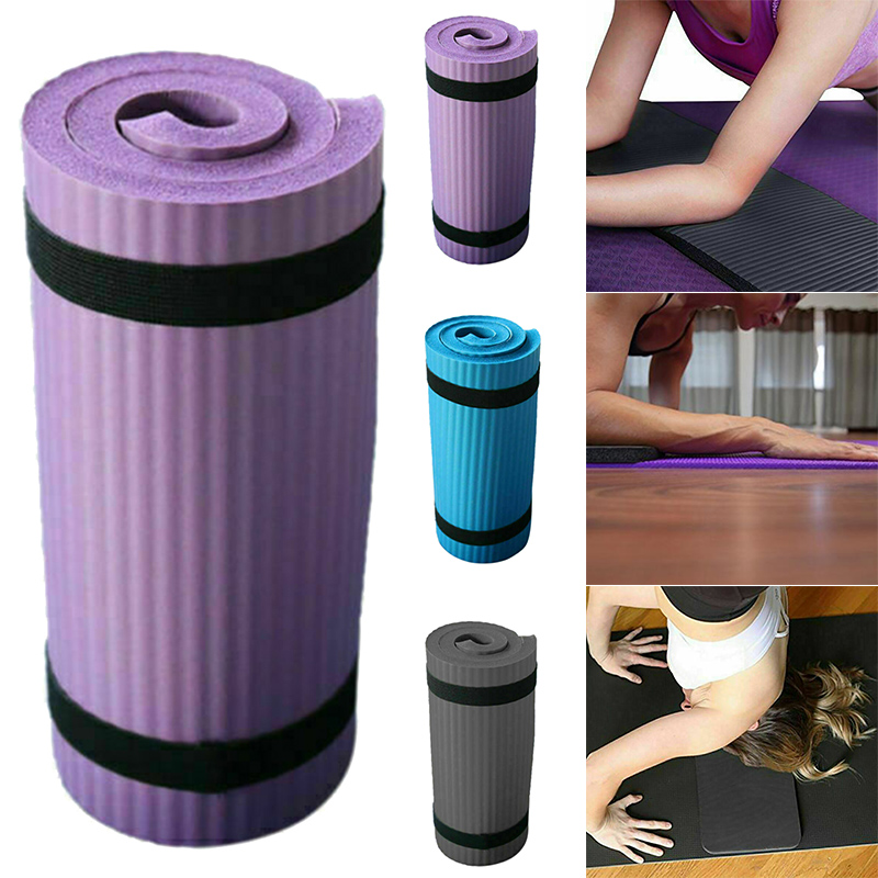 Hot Yoga Sport Mat Pilates Mat Thick PVC Anti-slip Blanket Exercise Gym Non-Slip Pilates Mats Workout 15mm Fitness Knee Mats ALS