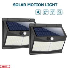 2PCS 108/140 LED Solar Light garden decoration yard security lamp PIR Motion Sensor solar Wall Lamp Waterproof emergency Light