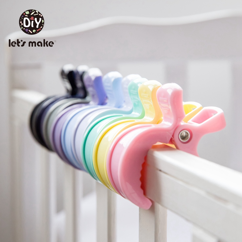 Let's Make Baby Rattle Plastic Clip Holder DIY Clothespin 2PCs PVC Free Sun Quilt Accessories Toy Wholesale Hook Up Baby Product