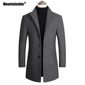 Mountainskin Men Wool Blends Coats Autum