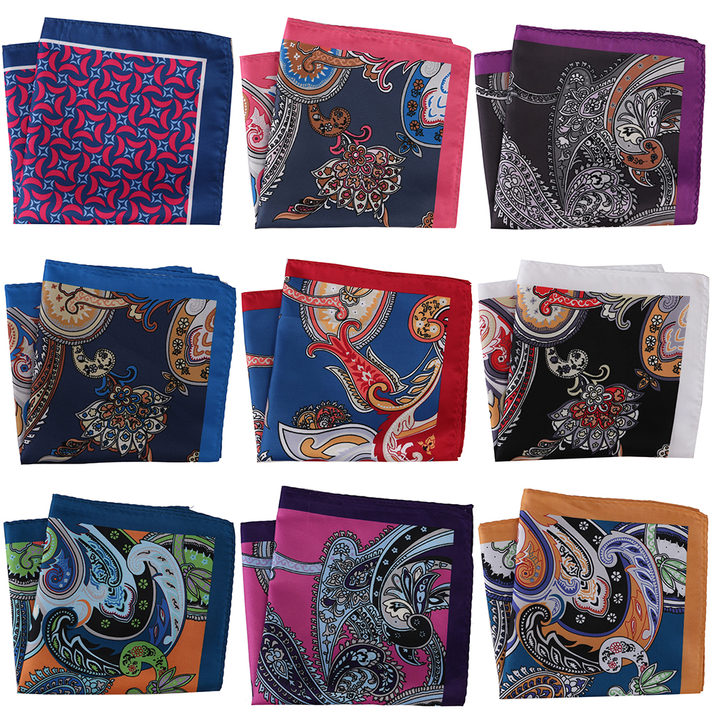 30CM Width Luxury Men Pocket Squares Large Men's Handkerchief Men Floral Paisley Scarf Pocket Hankies Chest Towel Wedding Party